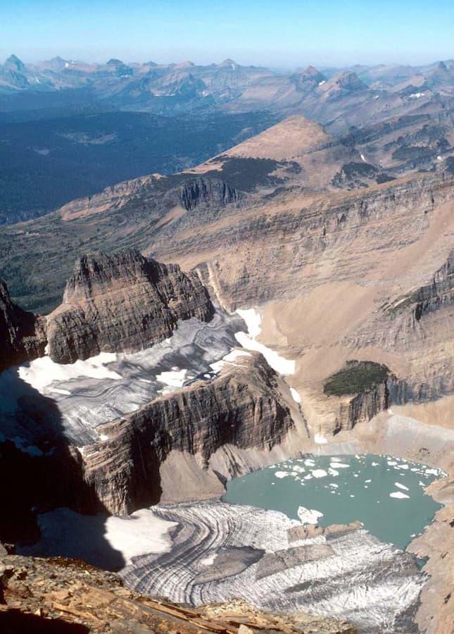 Grinnell Glacier in Glacier National Park (US) in 1981