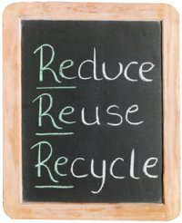 Reduce, reuse, and recycle to reduce your carbon footprint