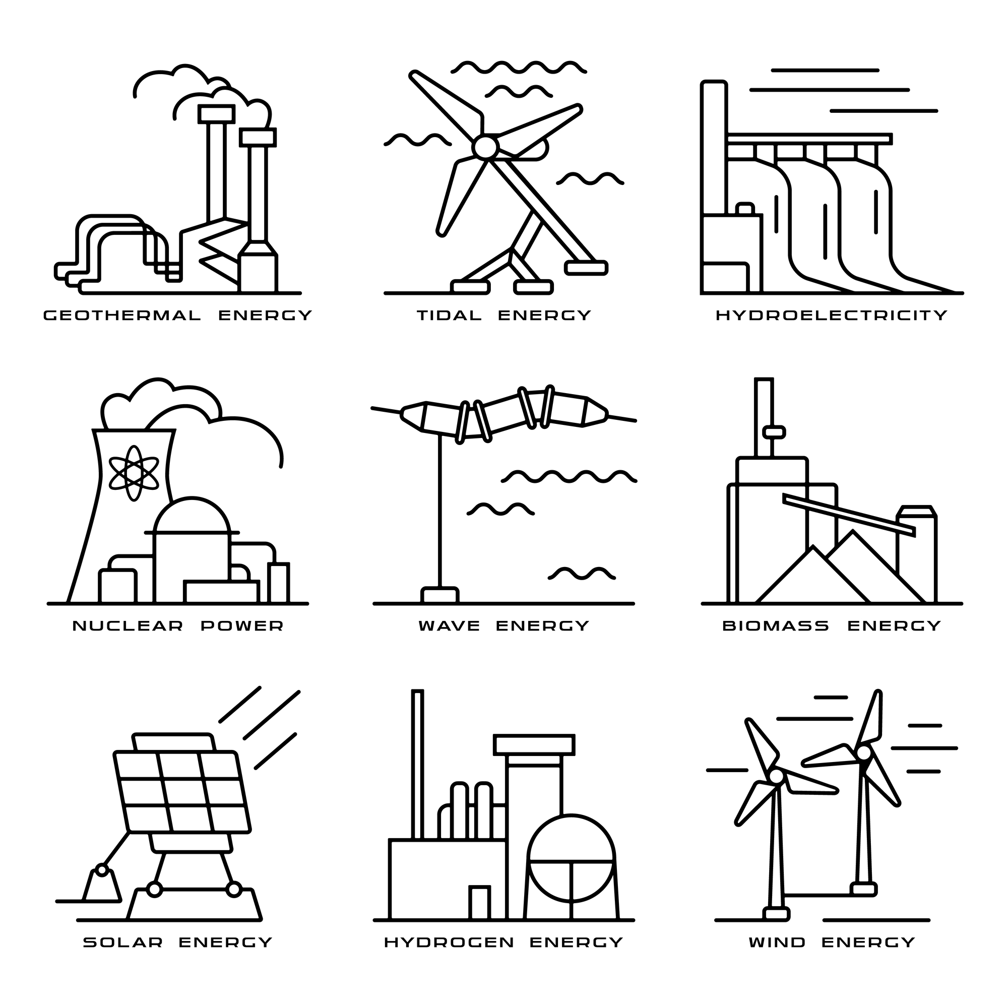 Diagram of renewable energy