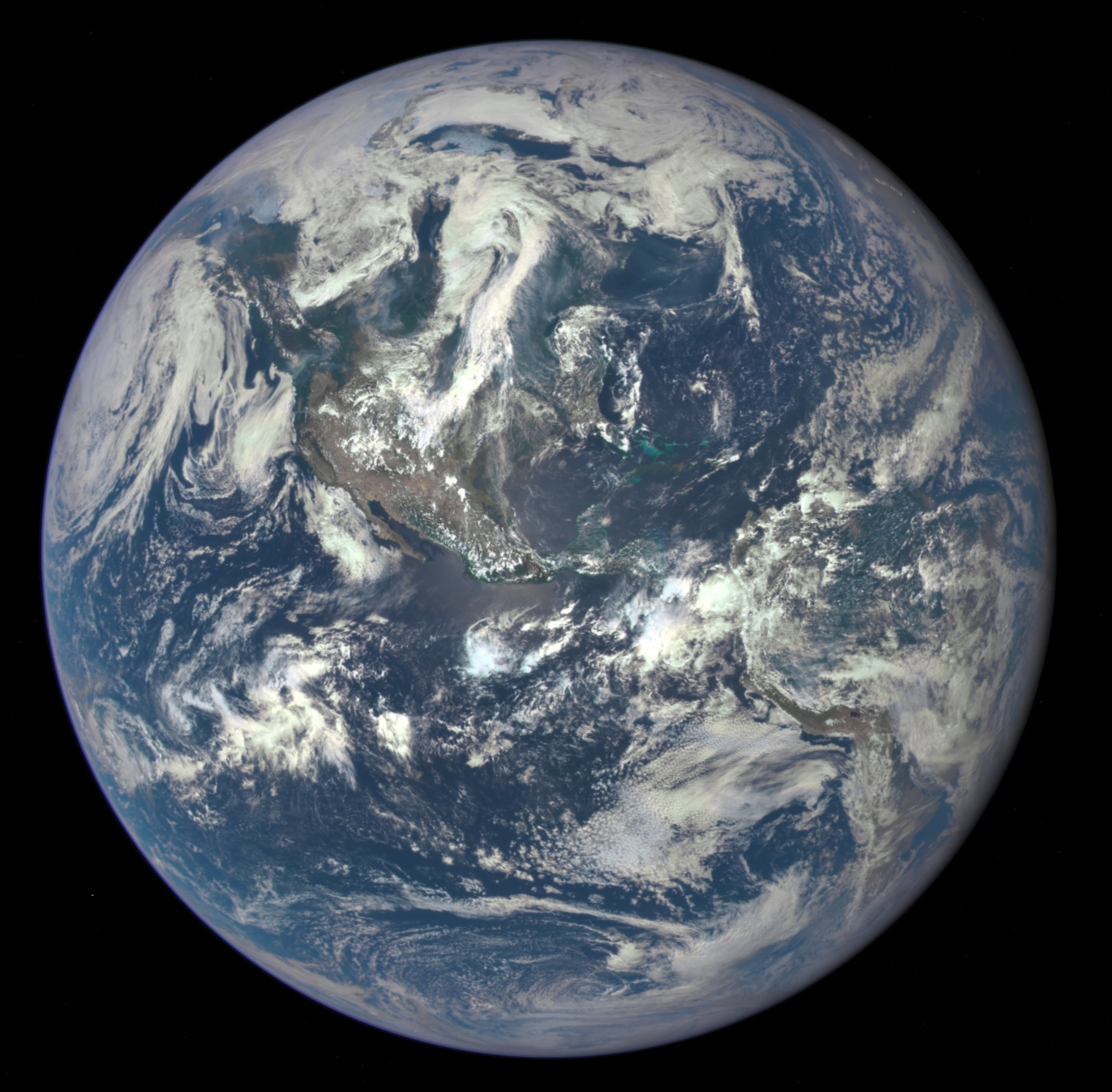 Picture of Earth in 2015 from NASA