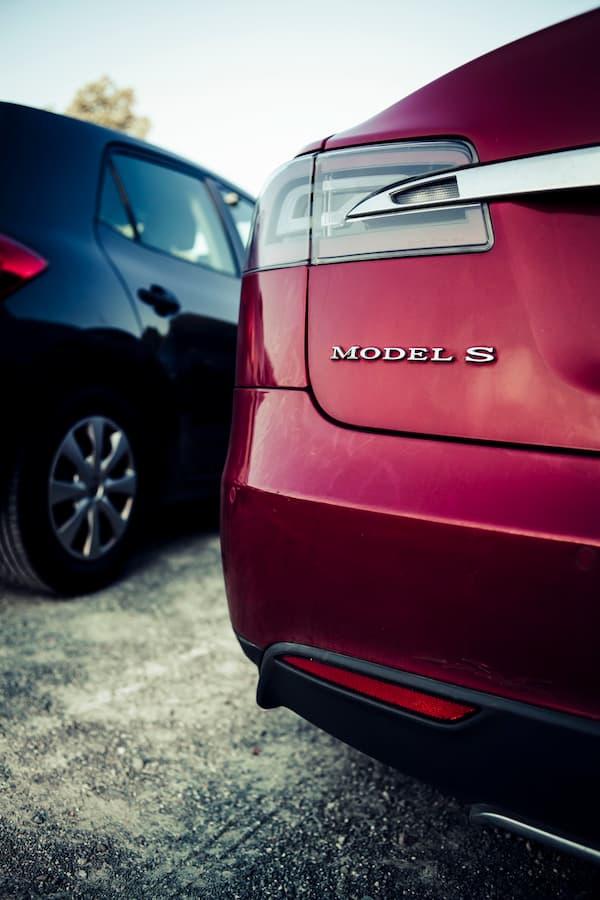 Electric Car Model S Closeup