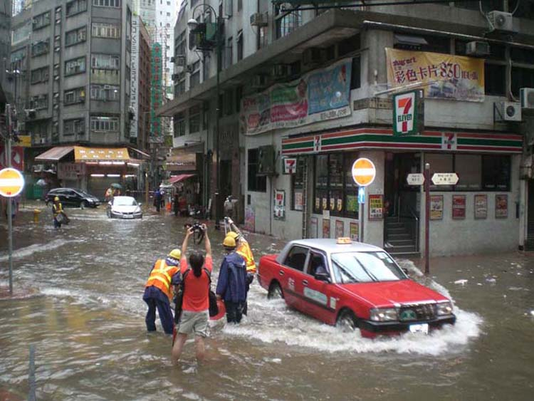 Flooding in Hong Kong