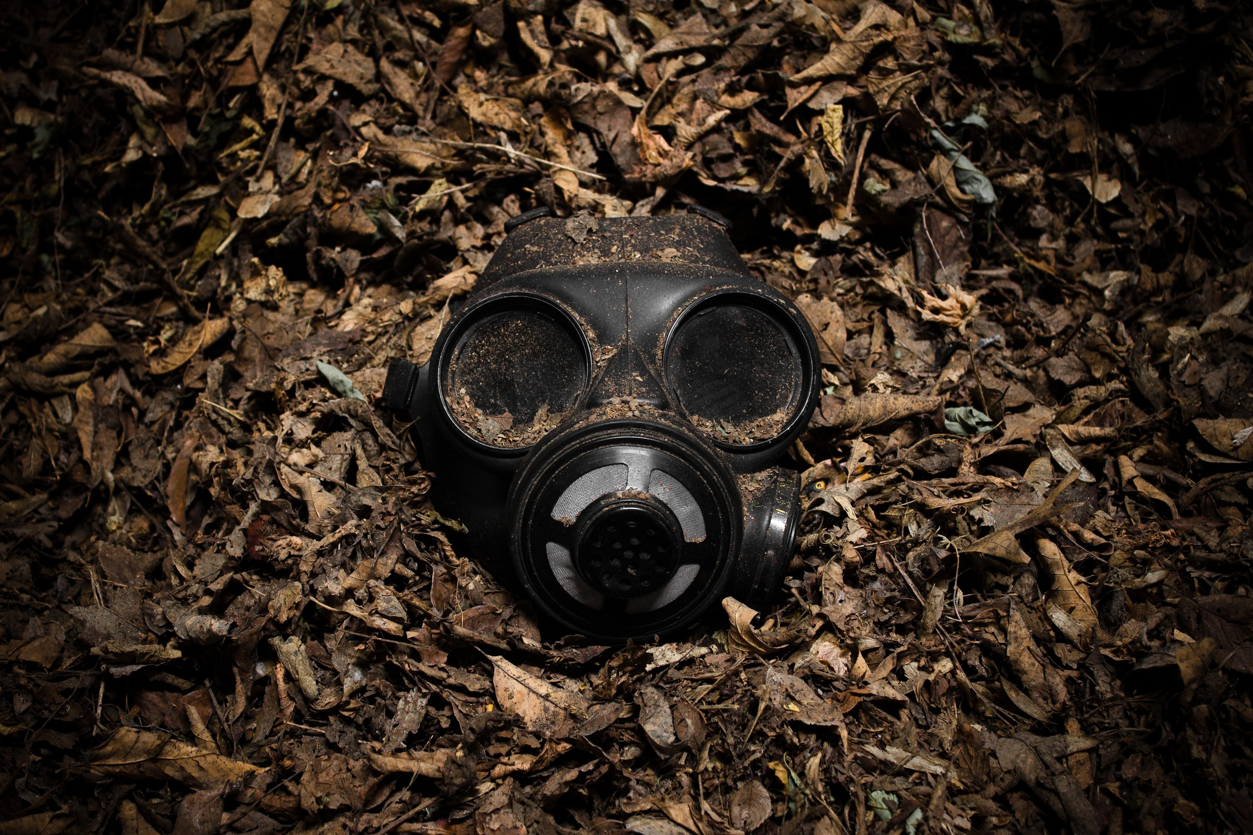 Gas mask - wars because of climate change