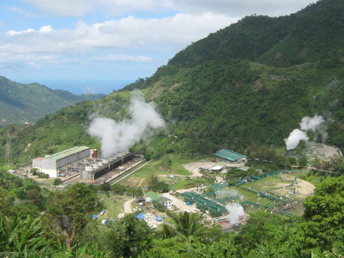 Geothermal energy uses the heat from the Earth to generate power