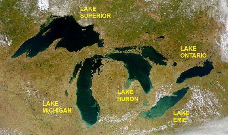 The Great Lakes are being affected by climate change