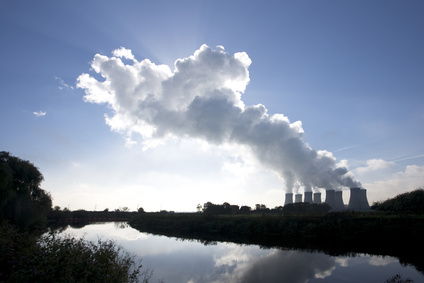 Nuclear power plants releasing water vapour