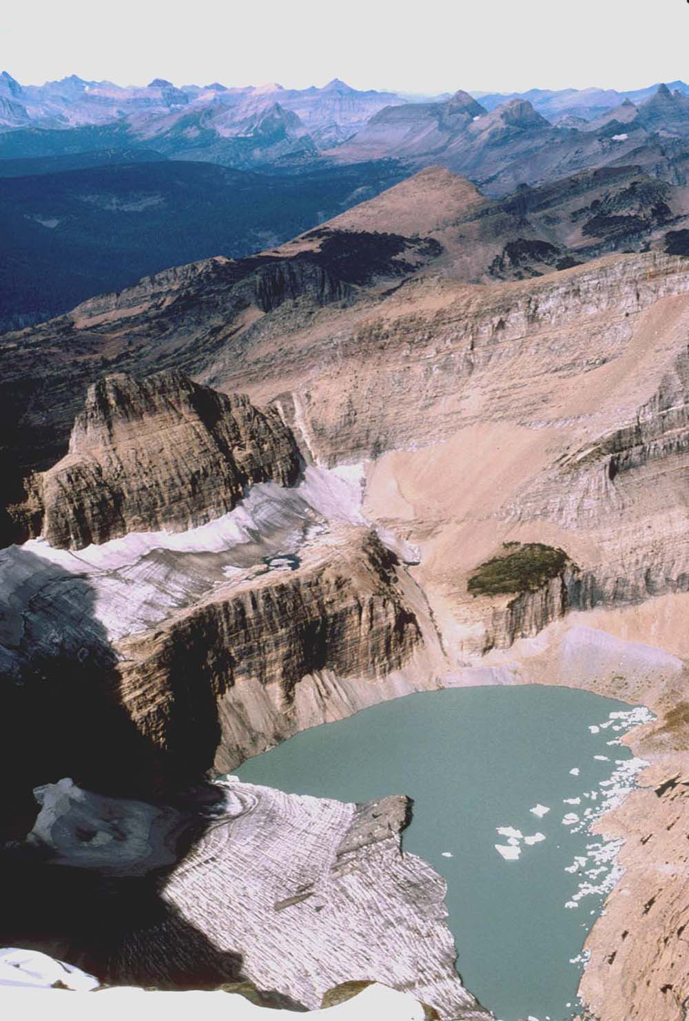 Grinnell Glacier in Glacier National Park (US) in 1998