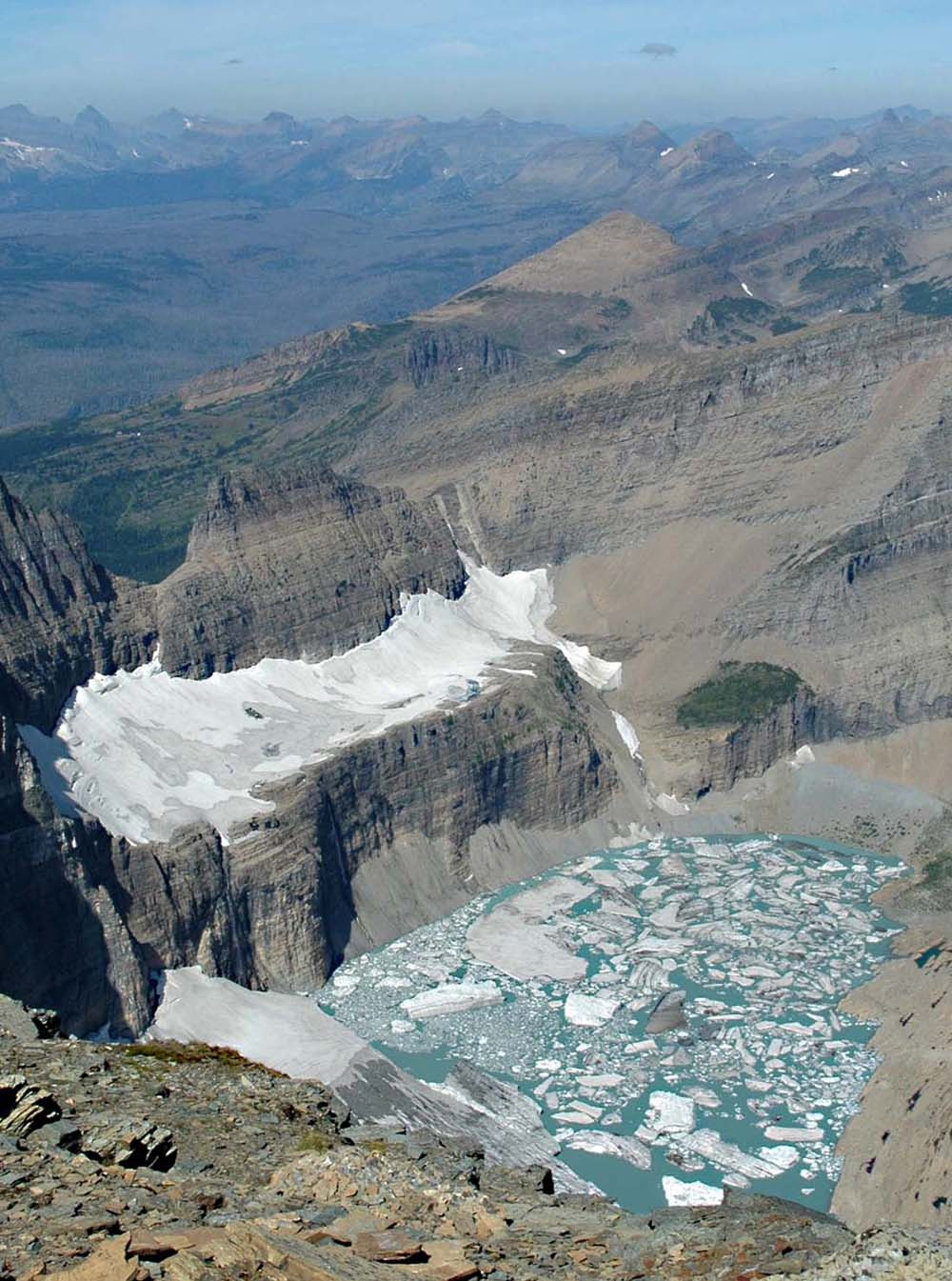 Grinnell Glacier in Glacier National Park (US) in 2009