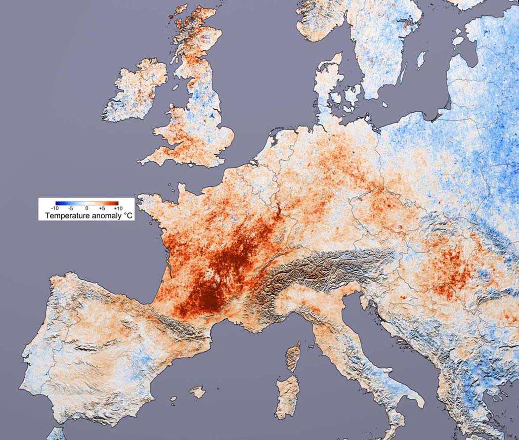 A heat wave in Europe caused over 30,000 deaths in 2003
