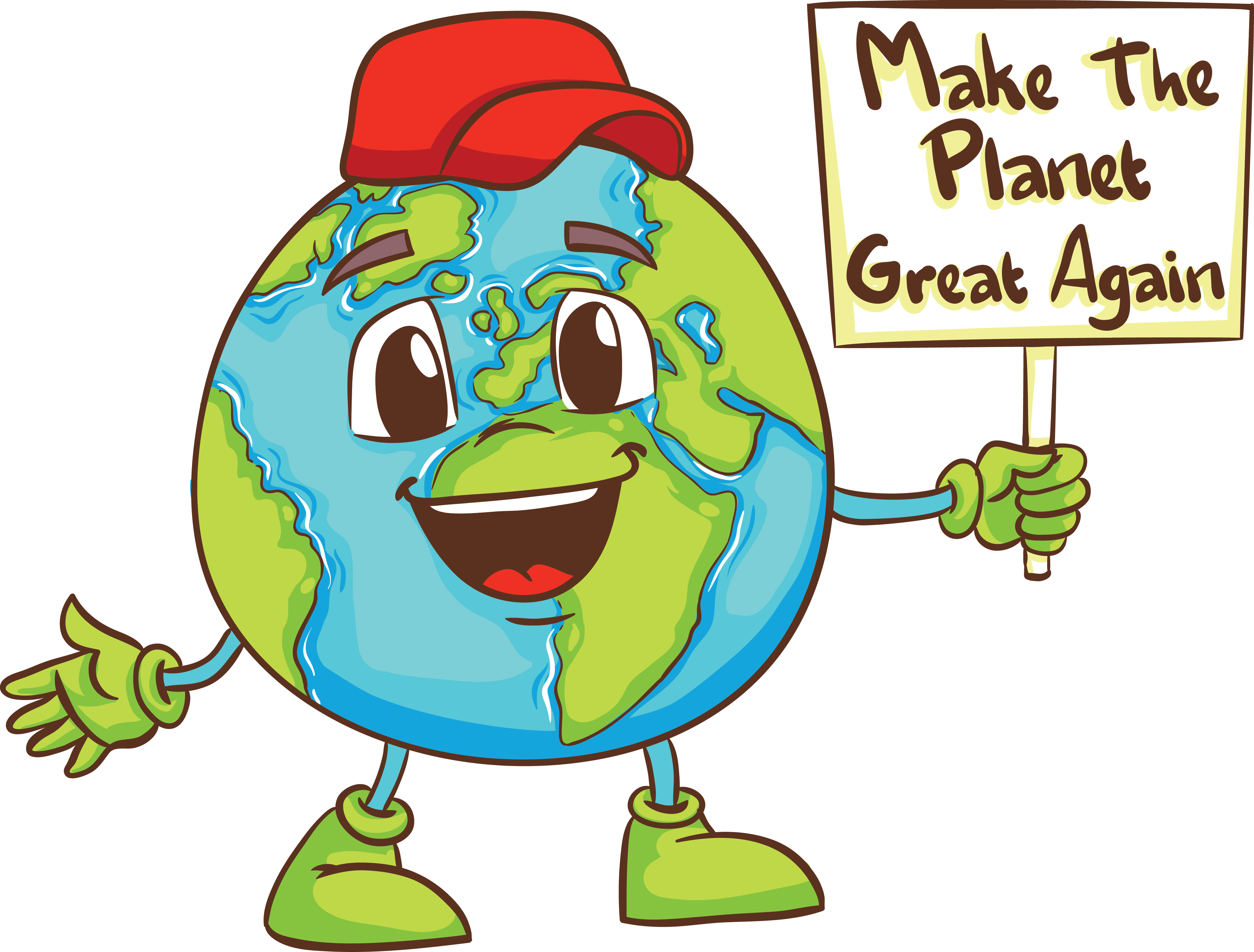 Make the Planet Great Again (with hat)