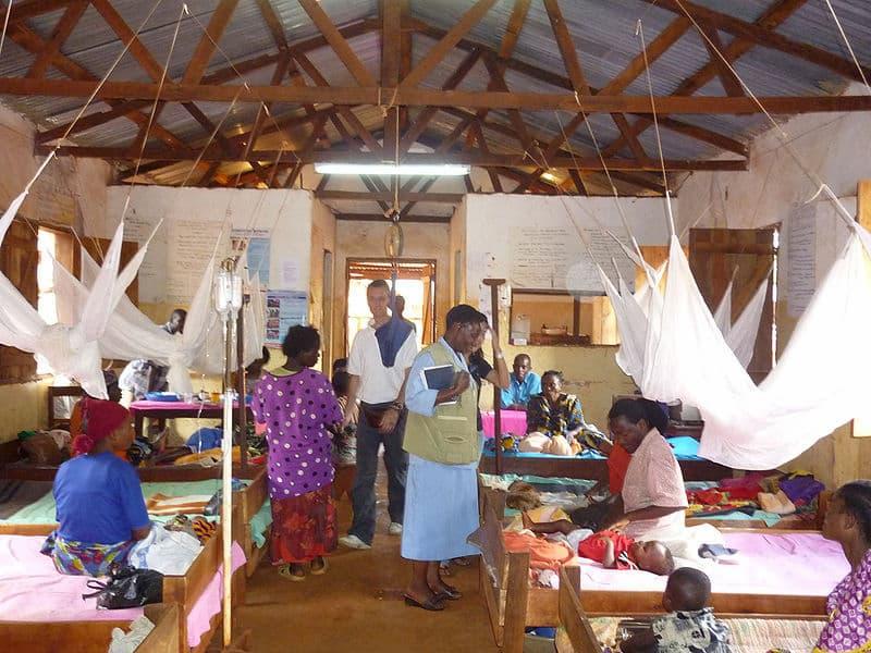 Malaria clinic in Tanzania