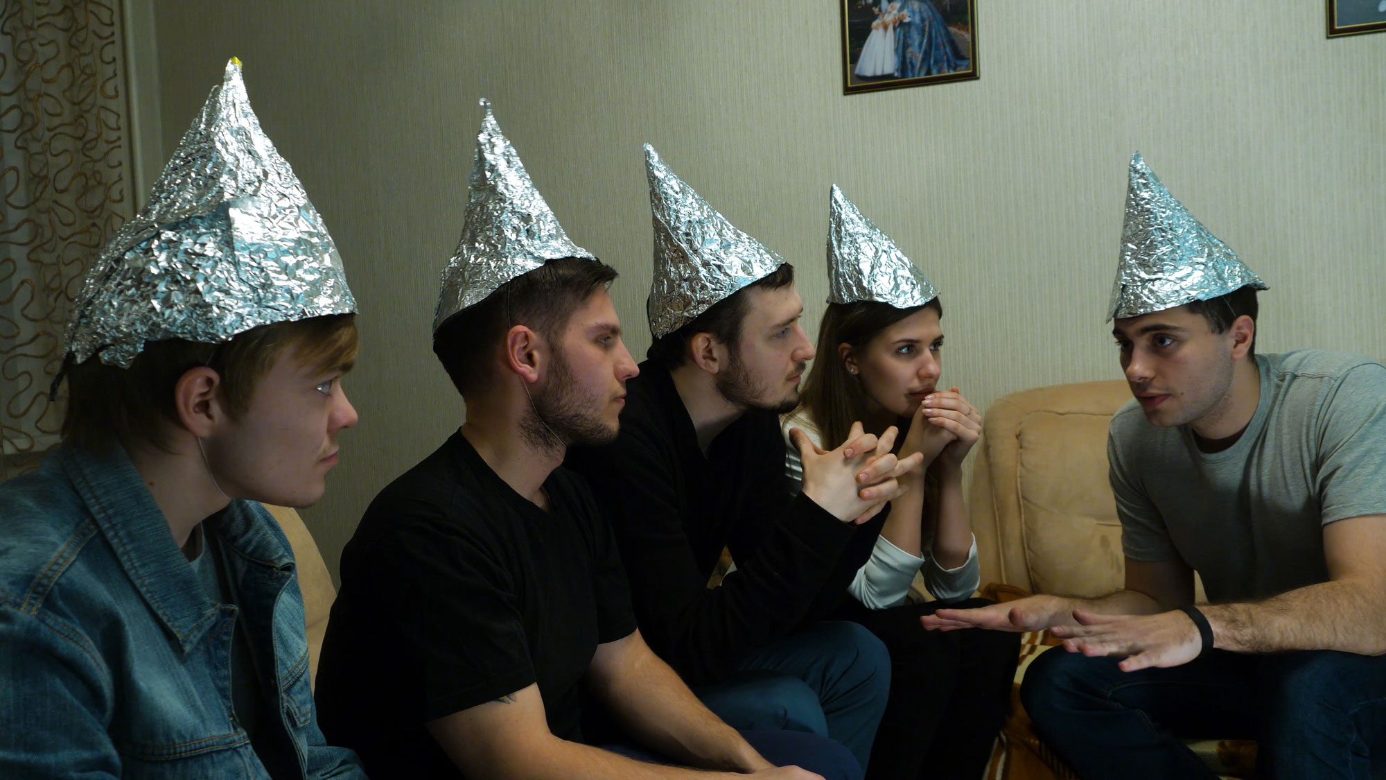 People with tinfoil hats