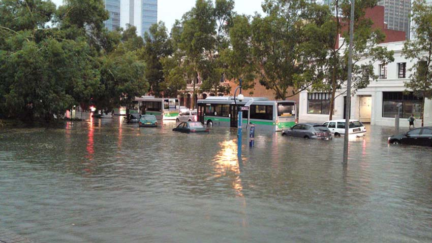 Storm in Perth caused major floods