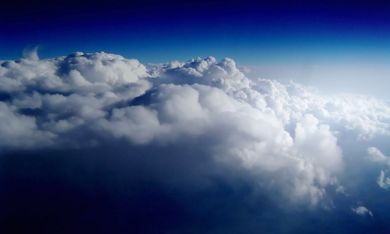 Clouds are formed by condensed water vapour