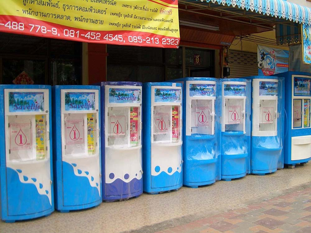 Drinking water vending machines (bottle not included) in Thailand