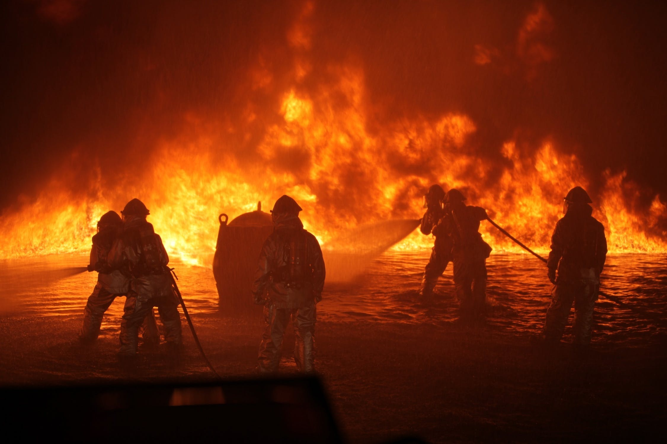 Wildfires and firefighters