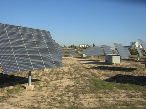 The Bellpuig Solar Park in Spain has pole-mounted 2-axis trackers to increase efficiency
