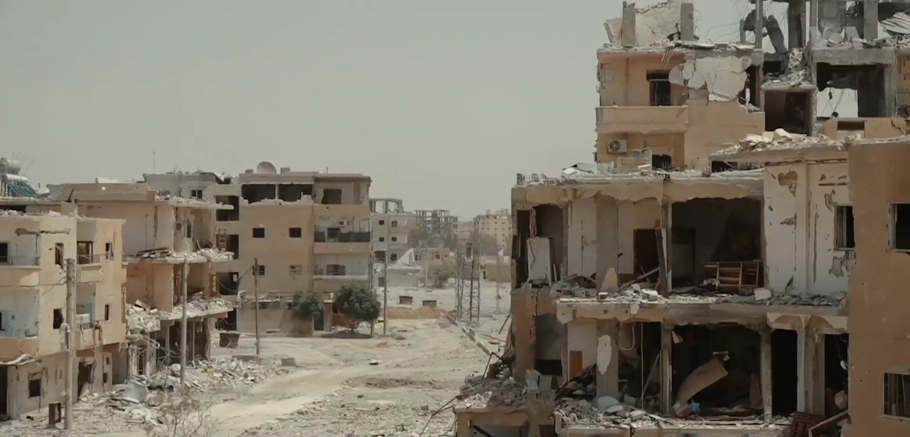 Destroyed Neighborhood in Syria