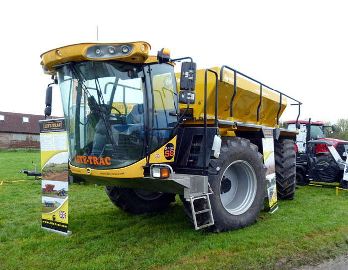A fertilizer spreader at an agricultural show