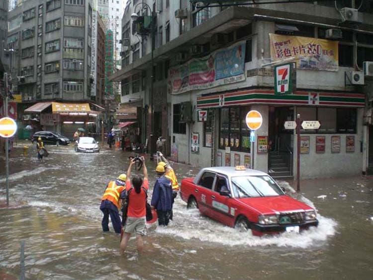 Flooding in Hong Kong