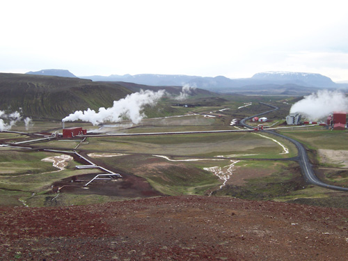 Over a quarter of Iceland's energy is produced from geothermal power