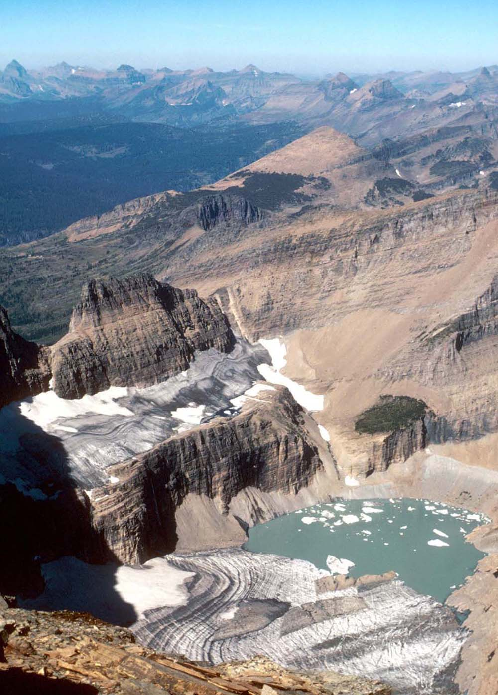 Grinnell Glacier in Glacier National Park (US) in 1981