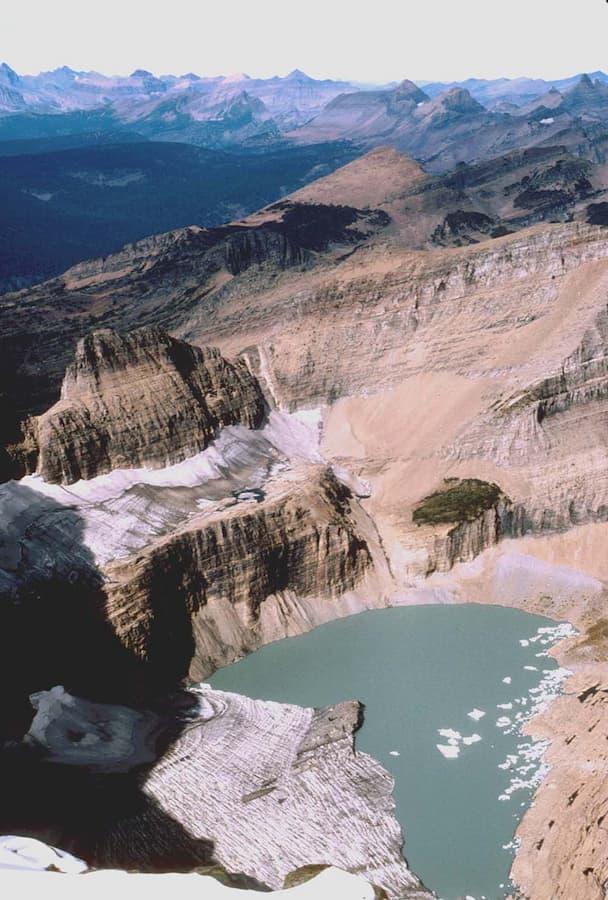 Grinnell Glacier in Glacier National Park (US) in 1998