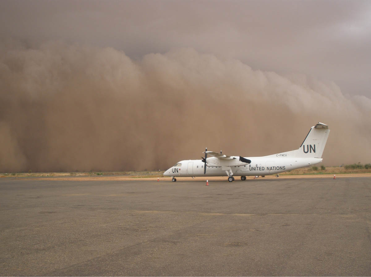 Dust storms are devastating to crops and will spread disease as well