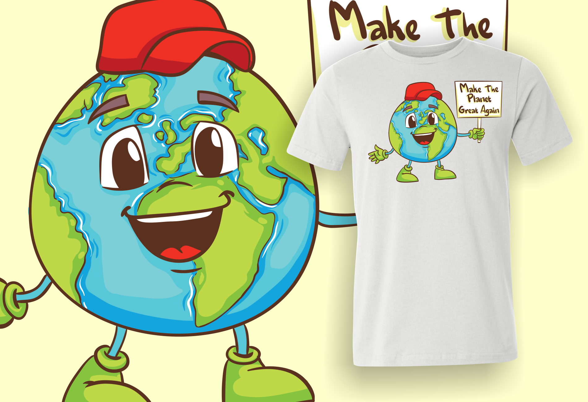 Make the planet great again t-shirt.