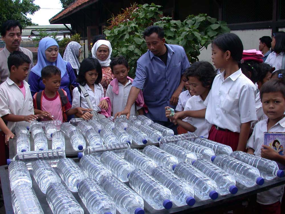 Solar water disinfection in Indonesia