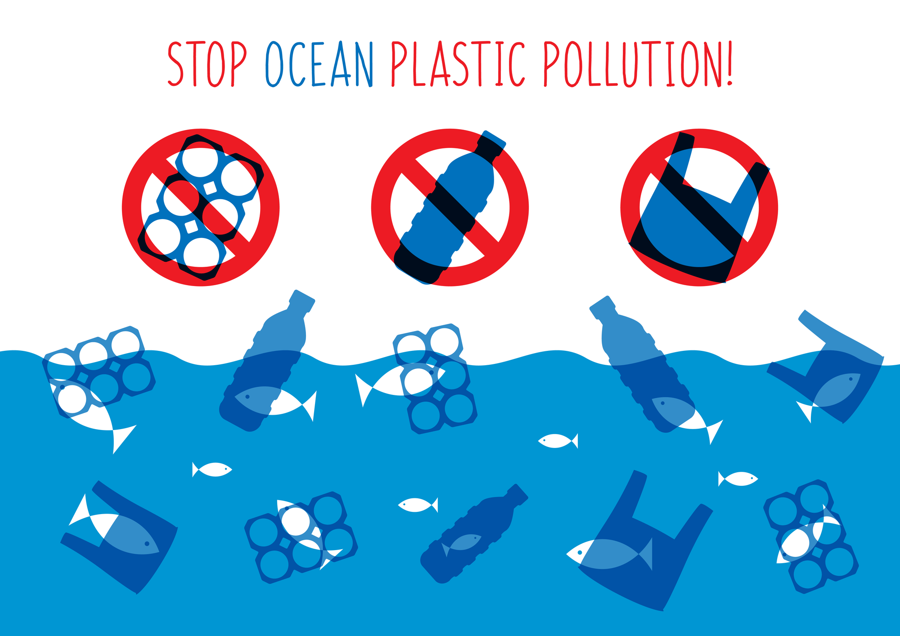 Stop Ocean Plastic Pollution Graphic